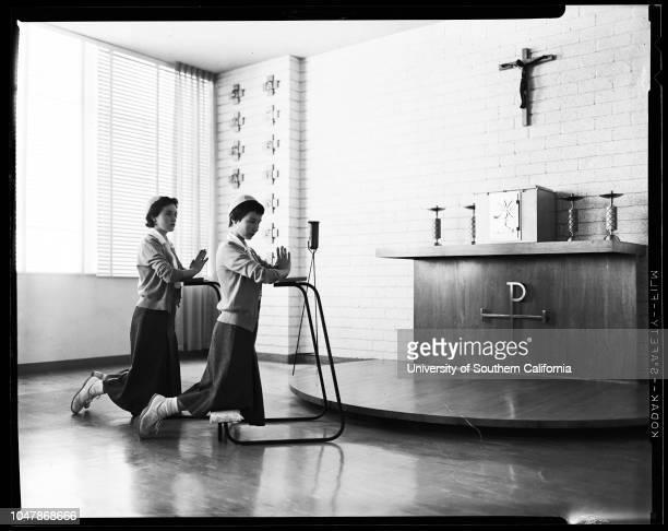 Providence High School in Burbank 11 November 1956 Mrs Sunny AdamsMrs Yvonne WadeMrs Maris FehrSister Maria ThereseGerry GoldenBarbara SonSister...