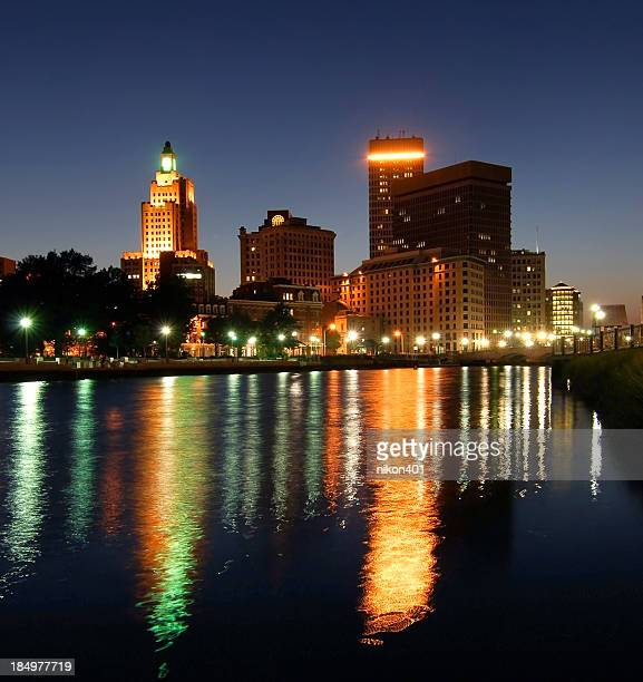 providence rhode island at twilight - east stock pictures, royalty-free photos & images