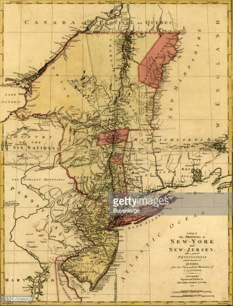 Provinces of New York and New Jersey with a part of Pennsylvania and the Province of Quebec 1777 Illustrated by Claude Joseph Sauthier