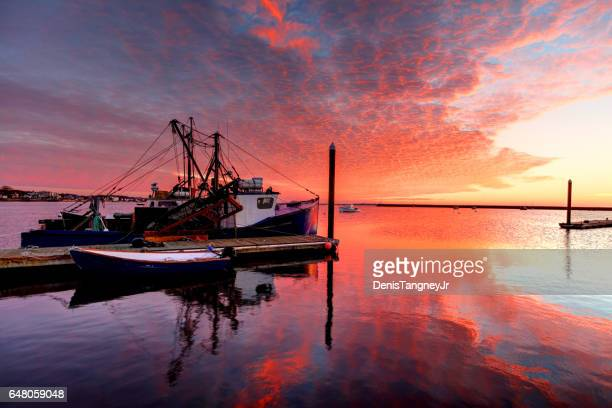 provincetown, cape cod - fishing boat stock pictures, royalty-free photos & images