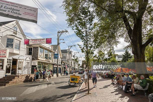 provincetown, commercial street - massachusetts stock pictures, royalty-free photos & images