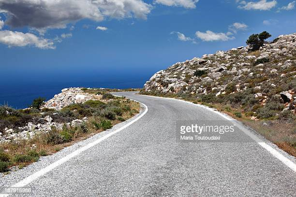 provincial road - peloponnese stock photos and pictures