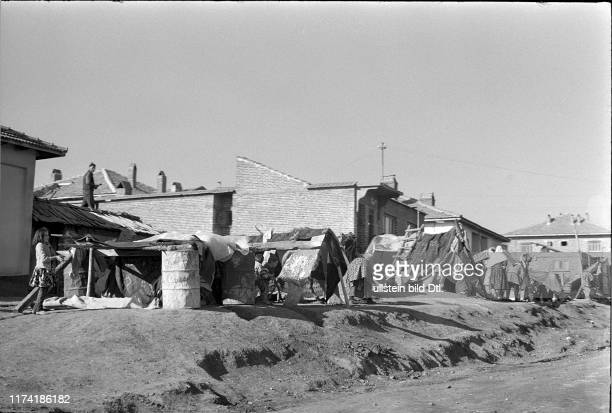Provisional accommodation Earthquake in Gediz Turkey 1970