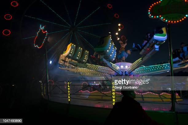 Provisional amusement park in the neighborhood of La Barceloneta