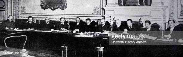 Provisional Government after the Russian Revolution February 1917 Left to Right Nobokov secretary to the cabinet Stchepkine Minister of Interior...