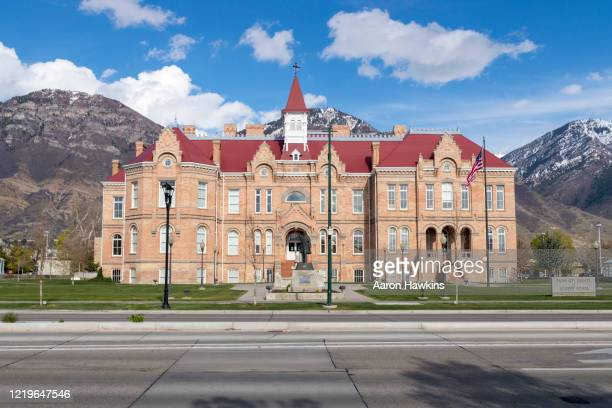 provo city library formerly brigham young academy - provo stock pictures, royalty-free photos & images