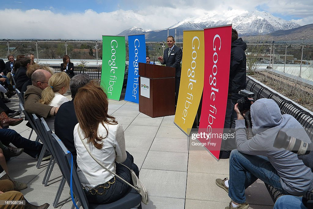 Google Fiber Announcement In Provo, Utah : News Photo