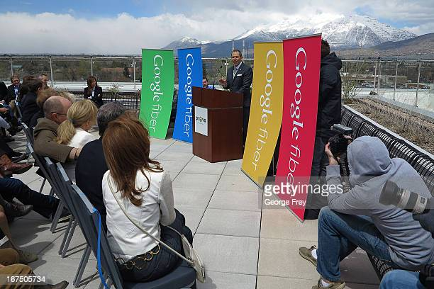 Provo Mayor John Curtis speaks at the Provo Convention Center to announce that the city has been chosen as the third city in the country to get...