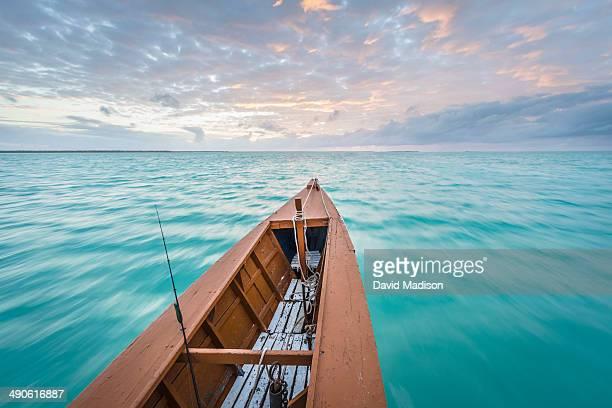 Prow of bonefishing boat, Christmas Island.