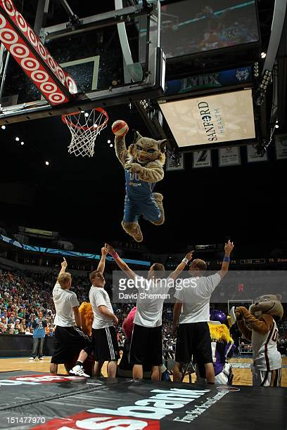 Prowl of the Minnesota Lynx goes for dunk on the night of her birthday during the game against the Atlanta Dream on September 7 2012 at Target Center...