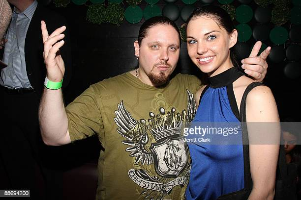Prowrestler/actor/author Brimstone and model Kimberly Leemans attend Noel Ashman's birthday party at Greenhouse on June 25 2009 in New York City