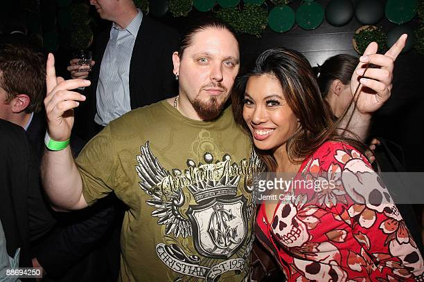 Prowrestler/actor/author Brimstone and VH1 Reality TV star Leilene attend Noel Ashman's birthday party at Greenhouse on June 25 2009 in New York City
