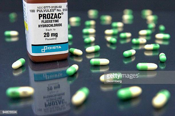 Prozac manufactured by Lilly Co is pictured in a Cambridge Massachusetts pharmacy on Thursday March 9 2006