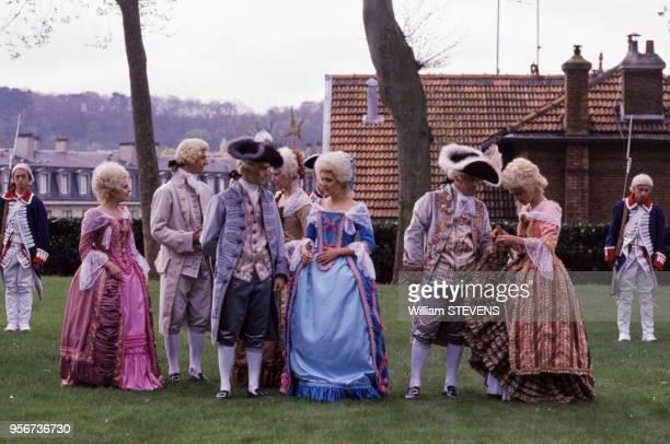 Préparatifs de la reconstitution de l'ouverture des Etats généraux du 4 mai 1789 ici la noblesse dans le cadre de la commmoration du bicentenaire de...