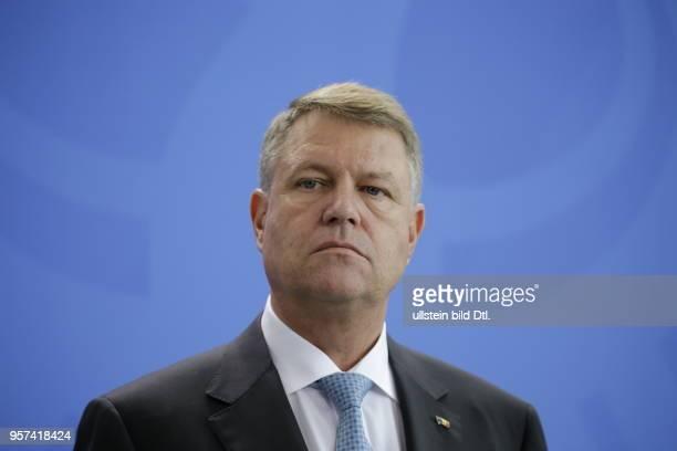 Präsident von Rumänien Klaus Johannis Deutschland Berlin Bundeskanzleramt Gemeinsame Presseunterrichtung nach dem Gespräch und Mittagessen der BK'in...