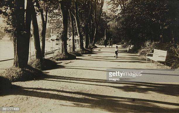 Pörtschach am Wörthersee Promenade near the Strandbad Establishment Park Hotel About 1930 Photograph