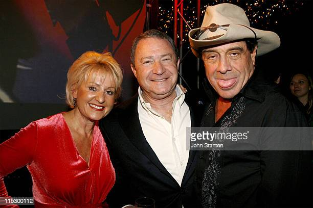 Pru Mcsween, Steve Liebman and Molly Meldrum during FOXTEL O&O Function at Fox Studios in Sydney, NSW, Australia.
