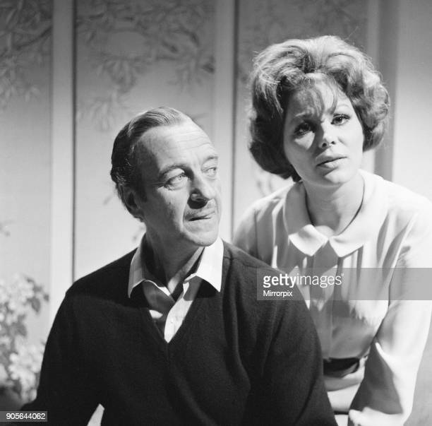 Prudence and the Pill film rehearsals at Pinewood Studios Iver Heath Buckinghamshire Thursday 14th September 1967 David Niven stars as Gerald...
