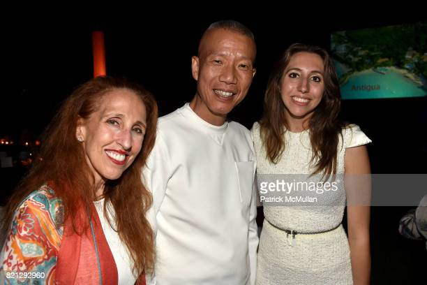 Prudence Fairweather Cai GuoQiang and Alexandra Fairweather attend Boom The Cosmic LongHouse Benefit at LongHouse Reserve on July 22 2017 in East...