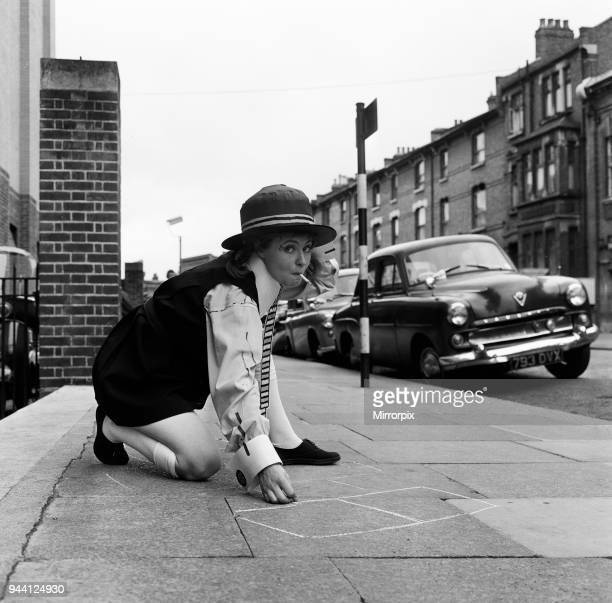 Prunella Scales, actress aged 29 years old, dressed as a naughty schoolgirl, 20th August 1962.