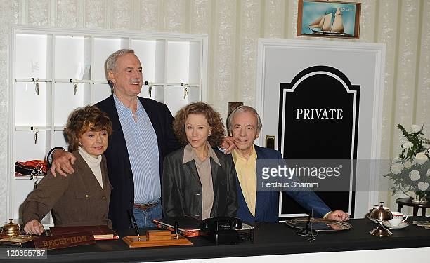 Prunella Scales John Cleese Connie Booth and Andrew Sachs attend GOLD's Fawlty Towers relaunch on May 6 2009 in London England