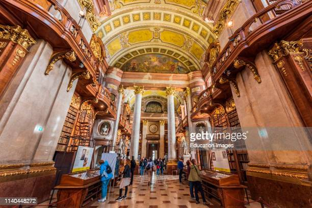 Prunksaal library, Austrian National Library, Vienna, Austria.