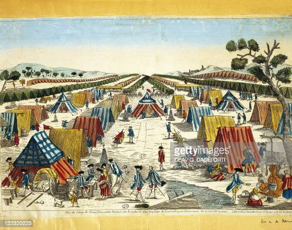 Prussia - 18th century - Pomerania - Camp of the Prussian Army in