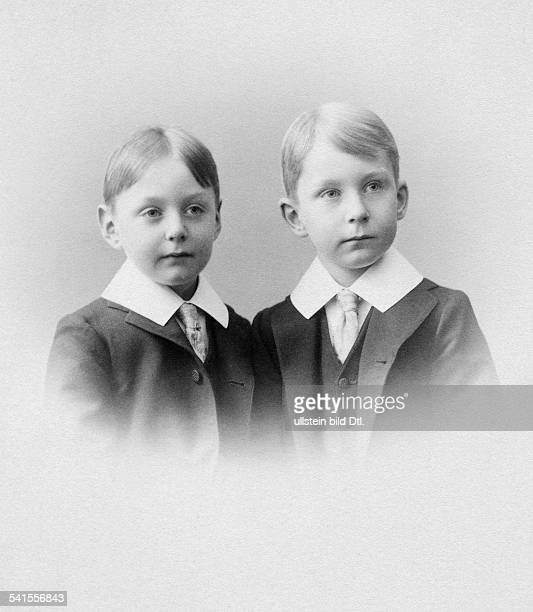 Prussia Prince Friedrich Sigismund of Germany*17121891 and his brother Prince Friedrich Karl Tassilo of Prussia Photographer Eugel Kegel 1899Vintage...