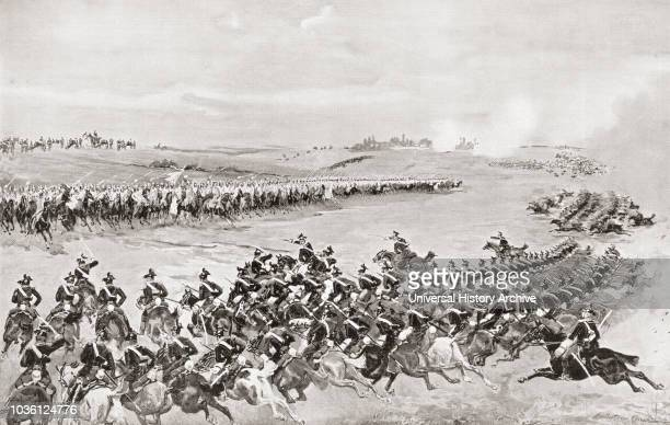 Prussian and Austrian cavalry at The Battle of K̦niggrÌ_tz also known as the Battle of Sadowa SadovÌÁ or Hradec KrÌÁlove 3rd July 1866 It was the...