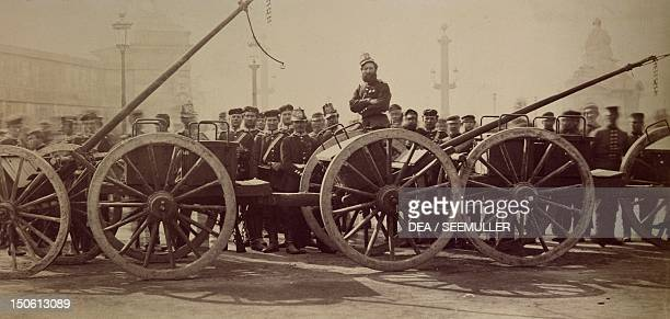 Prussian artillery on the Place de la Concorde in Paris March 1 1871 FrancoPrussian War France 19th century