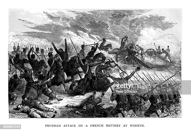 Prussian Attack on a French Battery at Woerth The Battle of Woerth resulted in the victory of the French under General Hoche