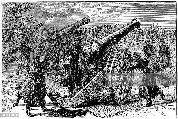 Prussian guns at the siege of Paris FrancoPrussian War January 1871 After the disastrous defeat of the French at Sedan and the capture of Napoleon...