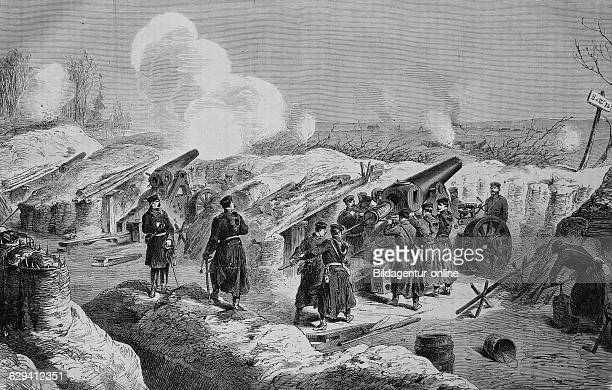 Prussian mortar battery in front of fort dpuble couronne illustrated war history german french war 18701871