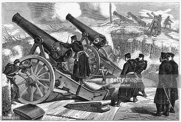 Prussian siege guns at the siege of Paris FrancoPrussian War 1871 After the disastrous defeat of the French at Sedan and the capture of Napoleon III...