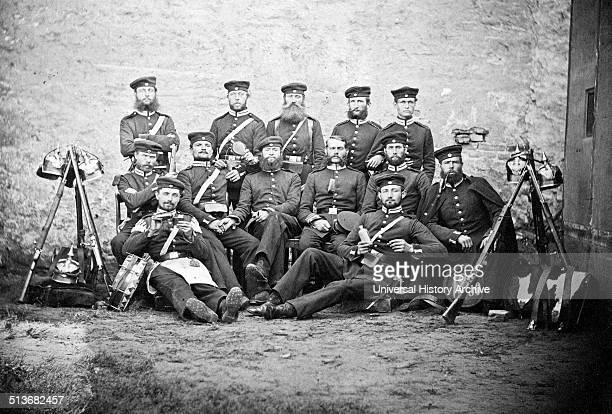 Prussian soldiers photographed during the AustroPrussian war of 1866