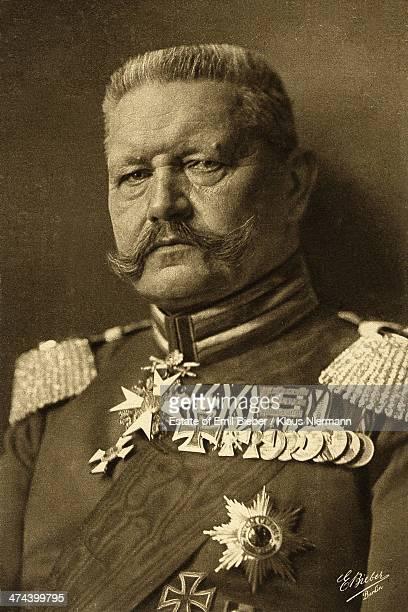 PrussianGerman field marshal and statesman Paul von Hindenburg in military uniform 1918
