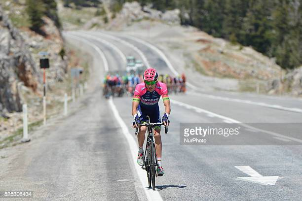 Przemyslaw Niemiec from LampreMedina tries a solo breakaway during the fourth stage of the 52nd Presidential Tour of Turkey 2016 the 187 km from...