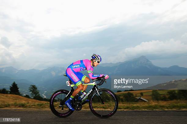 Przemyslaw Niemiec of Poland and Lampre Merida rides during stage seventeen of the 2013 Tour de France, a 32KM Individual Time Trial from Embrun to...