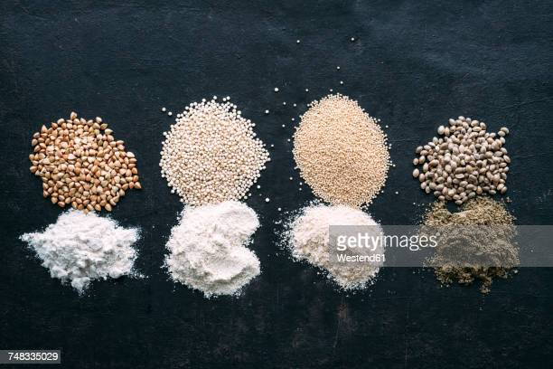 Pseudocereals and flour, Buckwheat, Quinoa, Amaranth, Hemp