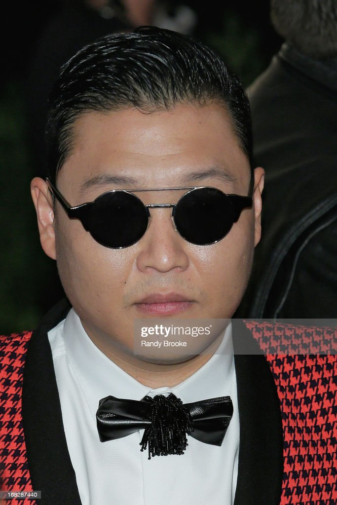 Psy attends the Costume Institute Gala for the 'PUNK: Chaos to Couture' exhibition at the Metropolitan Museum of Art on May 6, 2013 in New York City.