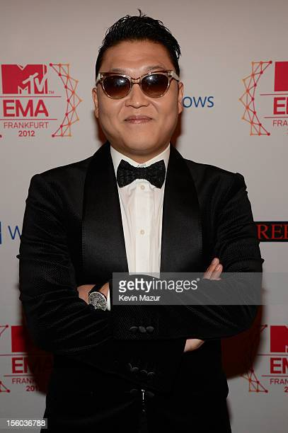 Psy attends the MTV EMA's 2012 at Festhalle Frankfurt on November 11 2012 in Frankfurt am Main Germany