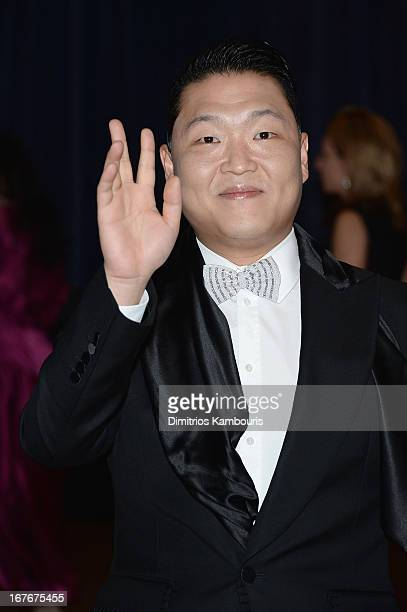 Psy attends the White House Correspondents' Association Dinner at the Washington Hilton on April 27 2013 in Washington DC