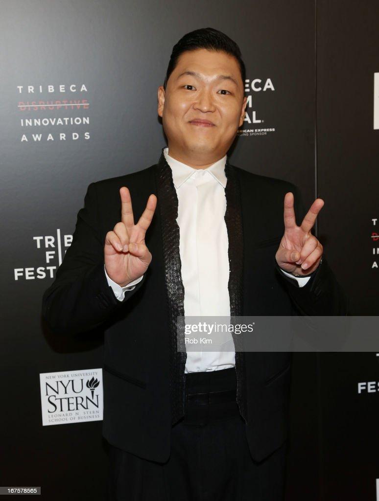 Psy attends Tribeca Disruptive Innovation Awards on April 26, 2013 in New York City.