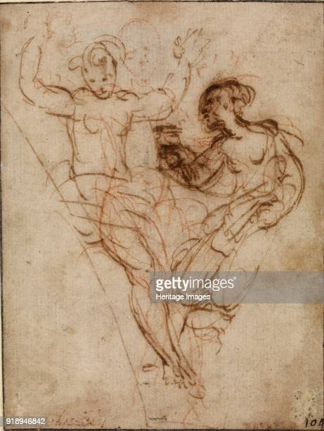 Psyche presenting to Venus the Vase of Proserpine early 16th century Dimensions height x width sheet 105 x 8 cm