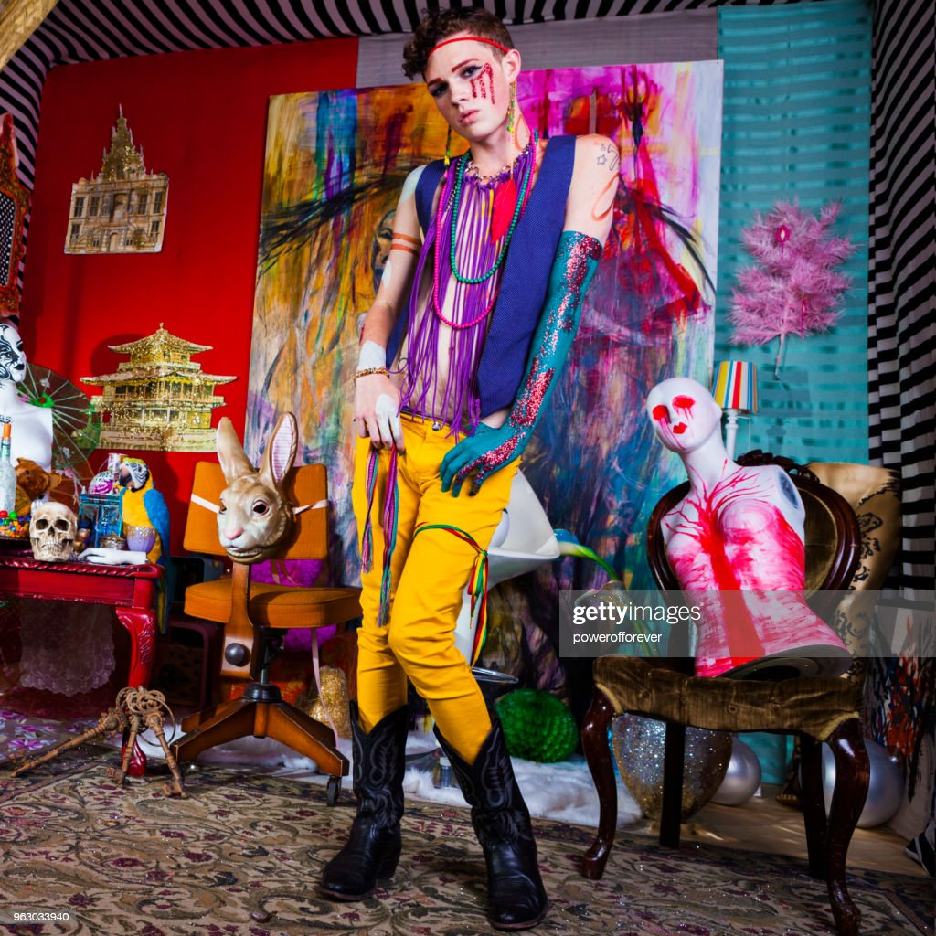 Psychedelic Avant-garde Fashion : Stock Photo