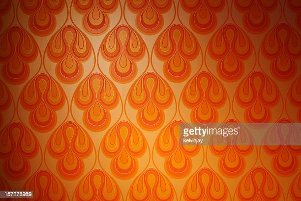 psychedelic funky retro 1970s wallpaper - 1970s stock photos and pictures