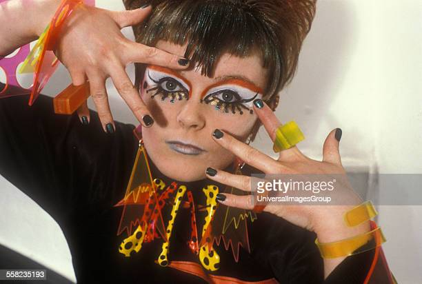 Psychedelic revival girl Cindy Cat London 1980s