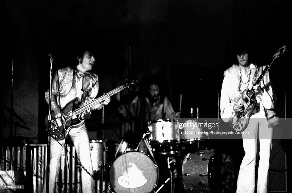 Cream Performing at the Fillmore Auditorium : News Photo