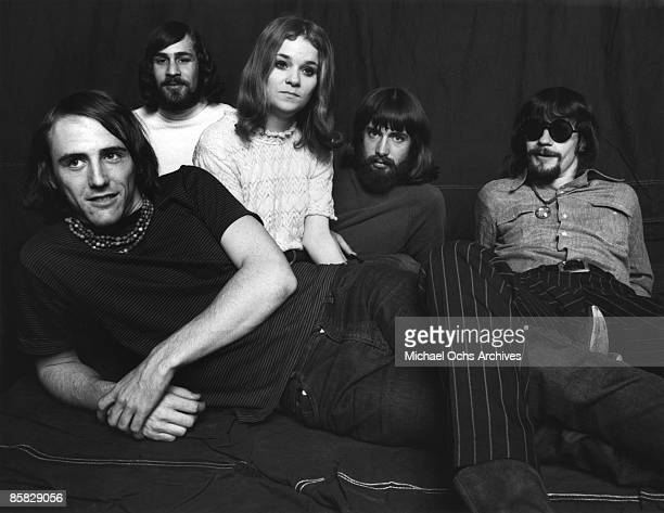 Psychedelic rock band The Peanut Butter Conspiacy poses for a portrait in 1967 in Los Angeles California