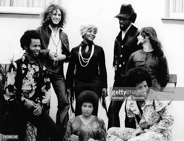 Psychedelic soul group 'Sly The Family Stone' pose for a portrait in circa 1971